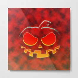 Screaming Pumpkin Metal Print
