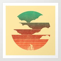 cycling Art Prints featuring Go West (cycling edition) by Picomodi
