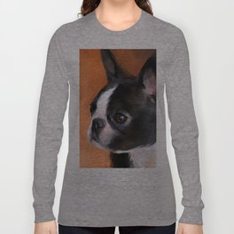 Perky Boston Terrier Long Sleeve T-shirt
