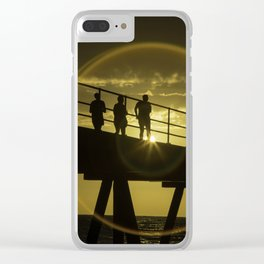 Sunset at Gleneig Jetty Clear iPhone Case