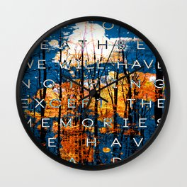 On Our Deathbed #1 Wall Clock