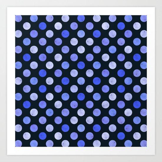 Watercolor Dots Pattern X Art Print