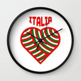 amo l'italia Wall Clock