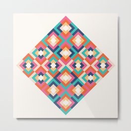 Colorful Geometric Metal Print