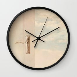 Stepping out into a dream. Wall Clock