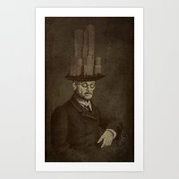 architect Art Prints featuring The Architect by Eric Fan