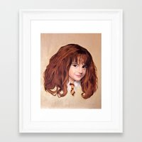 hermione Framed Art Prints featuring Hermione by Shannon Forringer