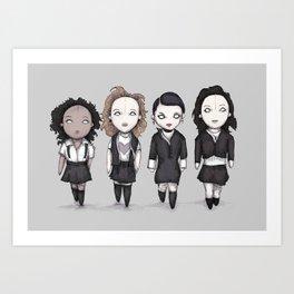 Plushie Witches Art Print