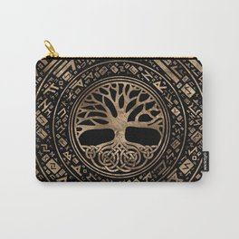 Tree of life -Yggdrasil Runic Pattern Carry-All Pouch