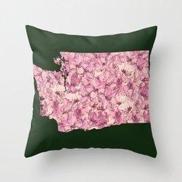 Washington in Flowers Throw Pillow