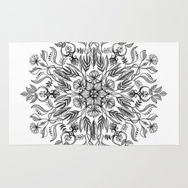 Thrive - Monochrome Mandala Rug