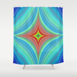 Happy abyss Shower Curtain