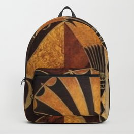 art deco wood Backpack