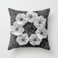 Flower circle Throw Pillow