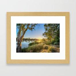 River Sunrise Framed Art Print