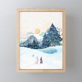 Happy Litlle Wildlife Framed Mini Art Print