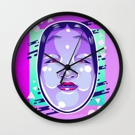 Neon Noh - Wakaonna Wall Clock