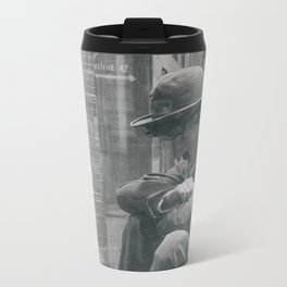 Little Tramp by the Window Metal Travel Mug