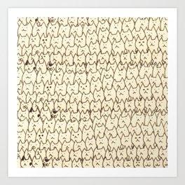 cats 42 Art Print
