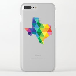 Geometric Galaxy - All the Colors of the Rainbow Clear iPhone Case