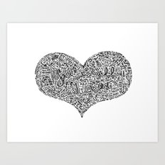 All I need - Lyrics doodle Art Print