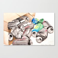 Spilled Cans Canvas Print