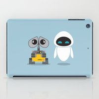 wall e iPad Cases featuring Wall-E and Eve by Steph Dillon
