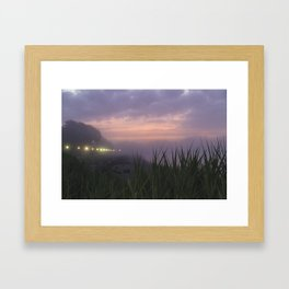 Foggy Cove Framed Art Print