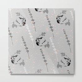 Roses and Lavender Metal Print