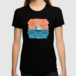 Sailboat Pattern T-shirt