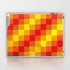 Rusty yellow and red motive Laptop & iPad Skin