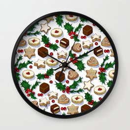Christmas Treats and Cookies Wall Clock