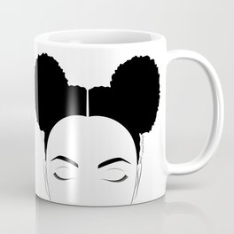 Afro-Puffs artwork, modern black and white designed by Gail Good Coffee Mug