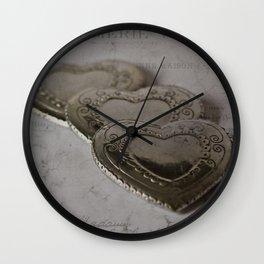 Les Trois Coeurs Wall Clock