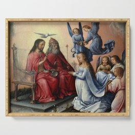 Michel sittow - Coronation of the Virgin Serving Tray