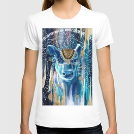 Astral Moon Cow Mandala T-shirt