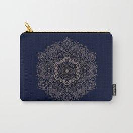 Temptation - Mandala 1 on Blue Backgound  Carry-All Pouch