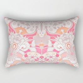 BOHO SUMMER JOURNEY MANDALA - PASTEL ROSE PINK Rectangular Pillow