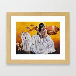 Muse- Yellow Framed Art Print