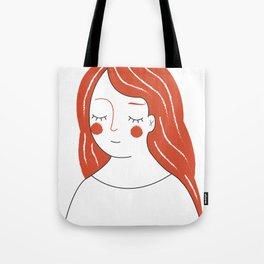 Red Haired Woman Tote Bag