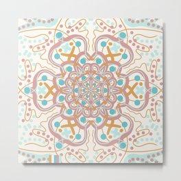 Mandala Love to Swim Metal Print