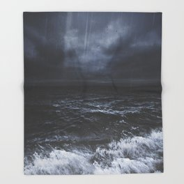 Lost in the sea Throw Blanket