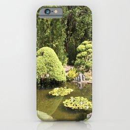 Japanese Tea Garden Pond iPhone Case