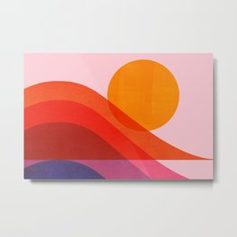 Abstraction_Surfing_New_WAVE_001 Metal Print