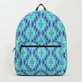 Tribal Diamonds in Purple, Turquoise and Mint Backpack