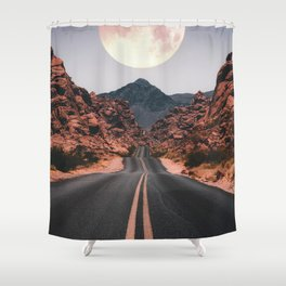 Mooned Shower Curtain