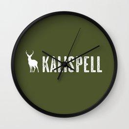 Deer: Kalispell, Montana Wall Clock