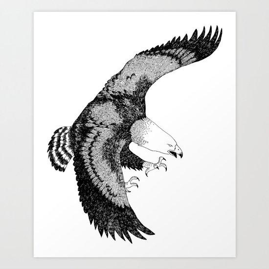 KING EAGLE Art Print