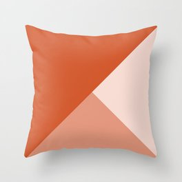 Orange Tones Throw Pillow