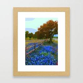 Bluebonnet season in Texas Framed Art Print